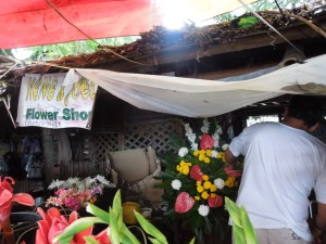 Flower Vendor's Stall, In front of San Sebastian Cathedral, Bacolod City