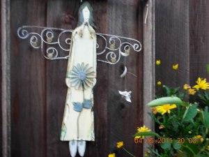In the Backyard, an Angel
