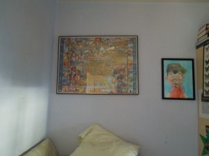 Son's Room: The boy in the painting is son at 6 or 7.