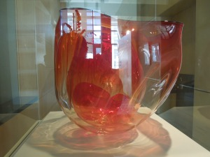 A Chihuly, what else?  This one's in the Cantor Art Center on the Stanford Campus.  You can see my reflection in the glass.