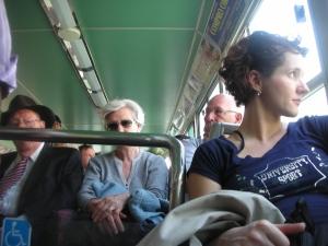 Passengers on the Vaporetto:  Venice, April 2013