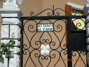 Gate to a Private Residence on the Island of Burano, on the Venetian Lagoon