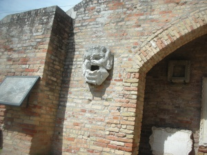 Ruins by the church in the island of Torcello, on the Venetian lagoon