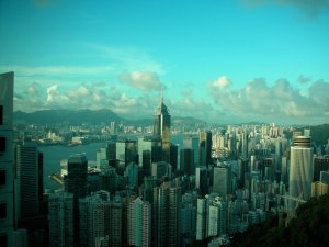 Hong Kong, monument to the Chinese money-making instinct:  Summer 2006 (Last Trip to Asia with Sole Fruit of Her Loins)