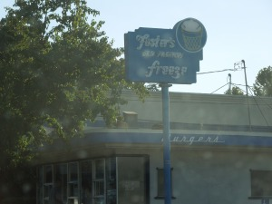 Signage:  The Foster Freeze in Menlo Park has been a local landmark for decades. The employees (a Chinese American family, who may very well be the current owners) have known son since he first stopped by, in grade school.