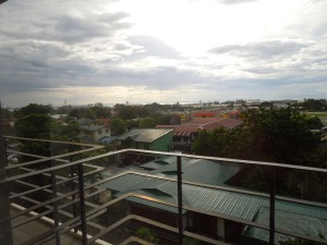 Bacolod City: the view from her hotel room