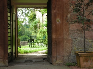 June 2012, Hawthornden:  Every day for one month, selfI passed through this portal.