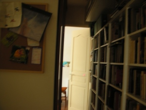 A Writer's Apartment in Paris.  The door leads to her bedroom.