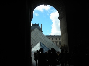 Approaching the Main Courtyard to the Louvre