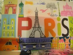 Paris Souvenir Placemat:  Bought this one in Montmartre, July 2013