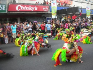 The 2012 Masskara Festival, downtown Bacolod City