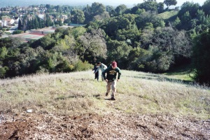 Andrew de Jesus and his cousins Chris and William Blackett, the foothills behind Cañada College, Redwood City