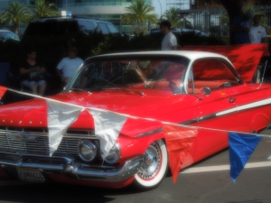 Annual Redwood City Fourth of July Extravaganza always includes an exhibit of vintage cars!