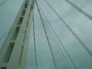 Crossing the new San Francisco Bay Bridge:  Twilight, Spring 2014