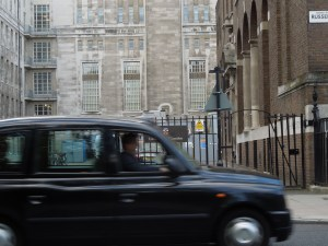 London cab, Russell Square, April 2014