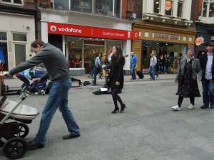 Strolling Along Grafton Street (After Coffee at Bewley's)