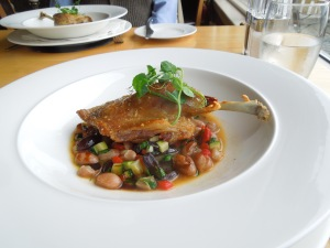 St. Kyran's restaurant, on the way to Annaghmakerrig. The chef is Connor McCan. Self had duck. What an amazing concoction!