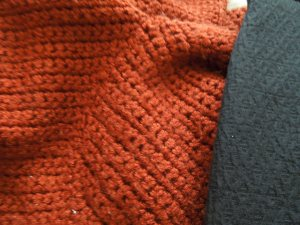 One of self's favorite items of clothing is this heavy cardigan, knit in Baguio.  She's owned it for at least 20 years.