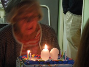 Mary Ann Robbiano turned 90. Self rented a room from her when she was just a new graduate student at Stanford.