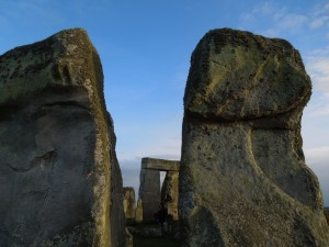 Stonehenge, April 2014:  What you see between the stones is of equal importance as the stones themselves.