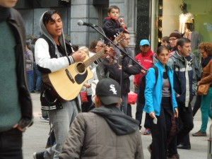 Grafton Street, Dublin. This singer was fantastic.