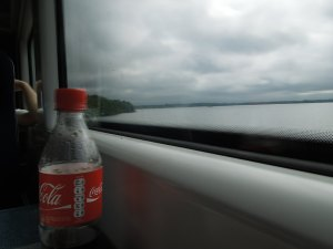 The train back to Dublin after catching Janet Pierce's painting exhibit in the Hamilton Gallery in Sligo