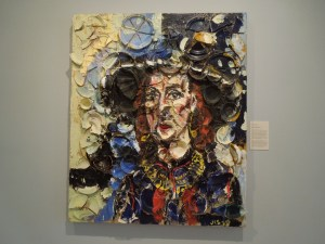 "Julian Schnabel, USA, b. 1951:  ""Portrait of Hope Makler, 1989"" at Cantor Art Center, Stanford campus"
