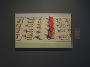 "Wayne Thiebaud, USA, b. 1920:  ""Lunch Table, 1964"" at Cantor Art Center, Stanford campus"