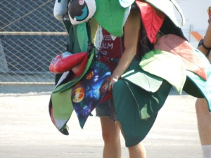 The 2014 Redwood City Fourth of July Parade:  The poor Stanford Tree was most deserving of a break; it must have been sweltering under that costume.