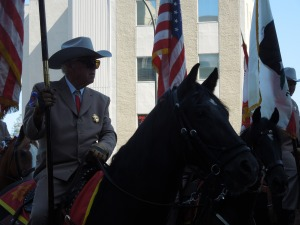 Another parade regular are the horses.  These are city officials, self thinks.