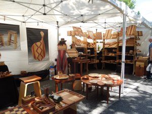 An artist's booth in Menlo Park's annual (held every July) Connoisseurs' Marketplace