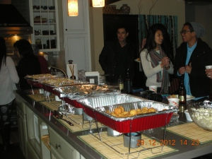 No one throws a feast like the Villanuevas!  Everyone at the party was either a cousin, a niece, or a nephew.