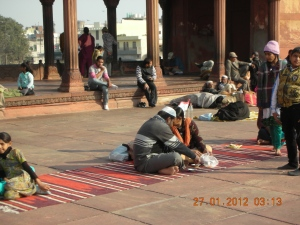 The Red Mosque, Old New Delhi, After Prayers:  January 2012