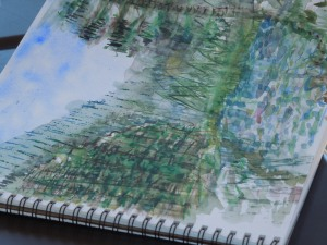 Sketchbook Belonging to a Squaw Valley Writers Conference participant