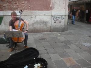 Street Musician, Venice, April 2013