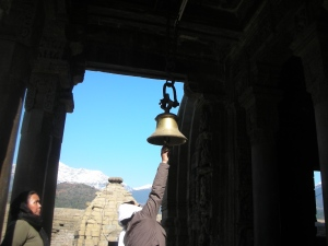 Pulling a bell = praying/ making a wish