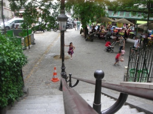 Montmartre, July 2014: Steps to Sacre Couer