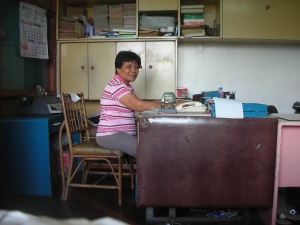 Secretary, GV & Sons, Daku Balay, Bacolod City: This woman has been working for the family for over 30 years, and self still doesn't know her name.