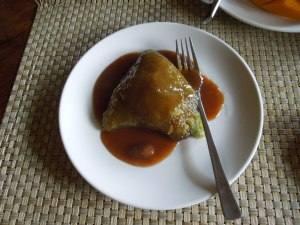 Suman/Ibus for Breakfast: The sauce consists of melted brown sugar.