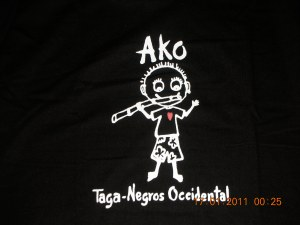 """A T-shirt self bought in Bacolod. Translation: """"I am from Negros Occidental."""" (Dear Departed Dad's Home Province)"""