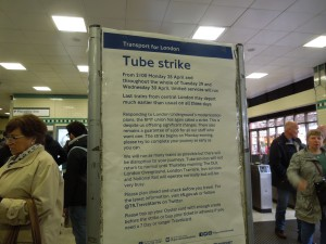 London Underground, Russell Square Station: April 2014