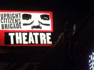 Lining up for Improv in LA's Upright Citizens Brigade Theater, a few months ago