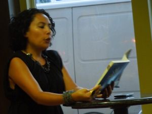 The Fabulous Rashaan, reading at Bay Blend Coffee & Tea, 1905 Mission Street, San Francisco