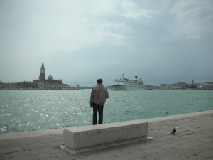 Fishing near the Arsenale in Venice, April 2013
