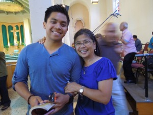 Connie and her son, Julian, after mass at San Gabriel church in southern California. Self has known Connie since she was in grade school. But she'd never met any other members of Connie's family until August 2014. Self would say meeting Connie's family was quite an achievement.