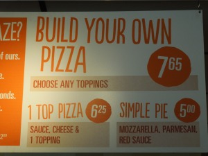 Still Blaze Pizza, Pasadena: November 2014