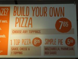 Still Blaze Pizza, Pasadena: November 2014