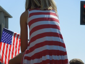 Spectators at Redwood City's annual Fourth of July Parade: July 2014