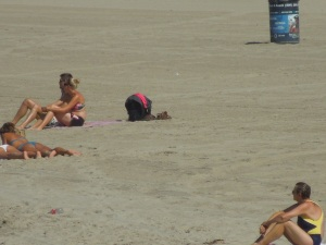 Sunbathers, Venice Beach, September 2014
