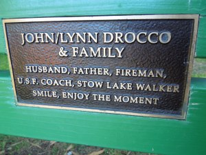 Memorial Bench, Stowe Lake, Golden Gate Park